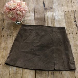 Blank NYC Suede Mini Skirt- Size 30